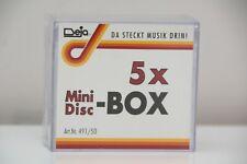 5 Deja MiniDisc Clear Cases Sleeves Jewel Cover New