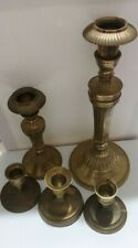Vintage Brass Candlesticks Candle Holders Lot of 5