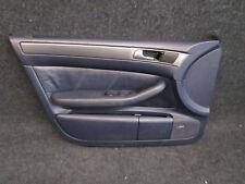 Türverkleidung leder vorne links Audi A6 4B Verkleidung Tür blau maritimblau
