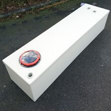 Narrow boat water or waste holding tank,  sloping base