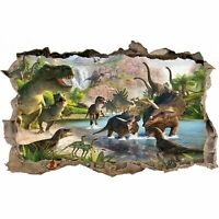Dinosaurs 3D Smashed Wall Sticker Poster Decal Mural 987