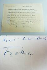 Schriftsteller Friedrich FREKSA (1882-1955): Gedicht / Brief 1955 an Freund