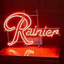 "Rainier Neon Light Sign 32""x24"" Lamp Poster Real Glass Beer Bar"