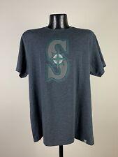 Men's '47 Brand Seattle Mariners Navy Blue Cotton MLB Baseball Short-Sleeve Tee