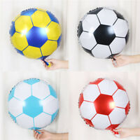 10pcs 18inch Football Foil Balloon Soccer Ball Round Helium Balloons ZY