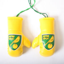 OFFICIAL NORWICH CITY FC CAR BOXING GLOVES