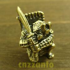 "Hand woven /""Samurai helmet/"" style Brass Lanyard Bead Paracord beads HW329"