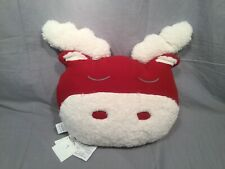 1 Pottery Barn Kids Red Cozy Plush Moose Pillow