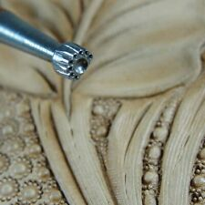 Vintage Craftool Co - #801 Half Background Stamp (Leather Stamping Tool)