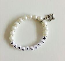 Perlenarmband Trauzeugin für Ihre Hochzeit, gerne auch mit Namen personalisiert
