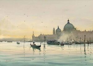Home art wall Decor Venice Italy landscape Oil painting HD Printed on canvas