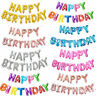 SELF INFLATING Happy Birthday Banner Balloon Bunting Silver Letters Foil 16 inch