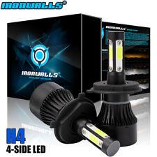IRONWALLS H4 HB2 9003 1900W 285000LM 4-Sided LED Headlight Kit Hi/Lo Bulb 6000K