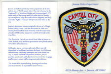 Juneau Police (Alaska) Shoulder Patch on a Department History card from 1980's