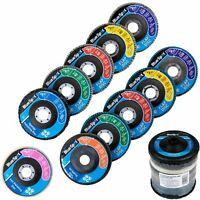 BlueSpot 11pc Polishing Sanding Flap Discs Set Angle Grinder 115mm 4.5'' Disc