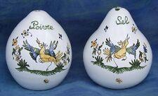 Salerons SALIERE POIVRIERE en FAIENCE MOUSTIERS céramique peint main saltcellar