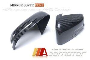 Carbon Fibre Door Wing Side Mirror Cover fits Mercedes W176 A-Class A250 A45 AMG