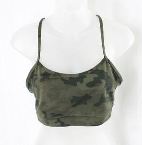 Lululemon Women's Olive Multi Green Camouflage Sports Bra Size 8