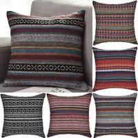 Bohemia Style Square Embroidery Cotton Pillow Case Cushion Cover Home Car Decor