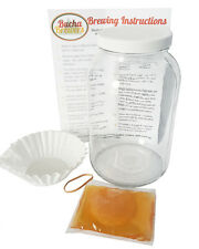 Kombucha Starter Kit Kombucha Kit - Gallon Glass Jar, SCOBY, Instructions & MORE