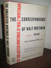 1st Edition COLLECTED WRITINGS Walt Whitman V5 Correspondence NYU First Printing