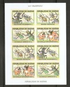 Guinea / 2002 Beetles  . Miniature  Sheet . Imperforated . MNH