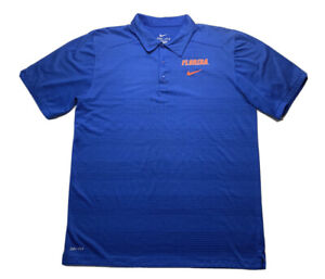 Nike Florida Gators Men's Dri-Fit Golf Polo Shirt Blue /Orange Size Large