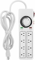 iPower 8-Outlet Surge Protector with 24-Hour Mechanical Timer Power Strip