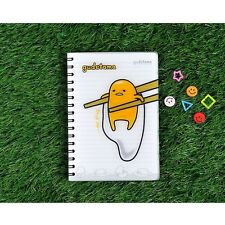 Sanrio Gudetama Lazy Egg A5 PP Cover Lined Notebook Note Pad : Chopstick