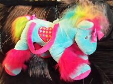 "18"" Toby NYC Blue Pink Horse Plush Purse Large Overnight Pajama Bag Stuffed Toy"