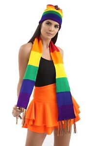 Adult Rainbow Gay Pride Neck Scarf Perfect Parade Carnival Stag Night Fancy Dres