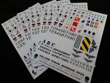 Lot of 5x 40K Astra Militarum / Imperial Guard Tank Decals / Transfer Sheets