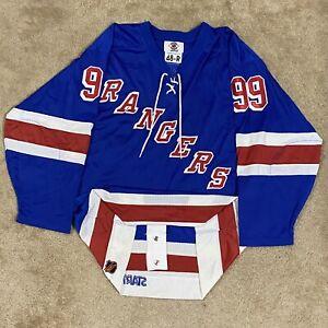 Starter Authentic Wayne Gretzky New York Rangers Mesh NHL Hockey Jersey Blue 48