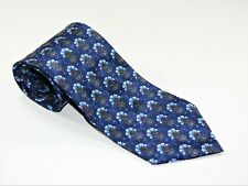 Men's Ermenegildo Zegna Silk NECKTIE Tie Made ITALY BAROQUE GARDEN BLUE GOLD