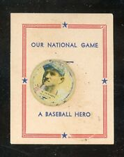 """1938 Our National Game Pin  DeMaree  """"fair""""   LOOK !!"""