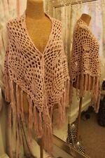 Mano Crochet en rosa salmón Chal Envolvente Ditsy Vintage Victoriana