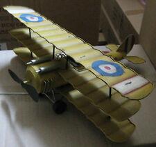 Blechflugzeug Trippledecker 30x37x15cm bewegl. Propeller & Räder #159520