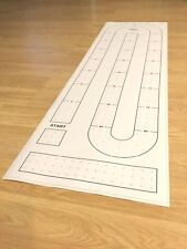 Large cribbage board hole pattern template