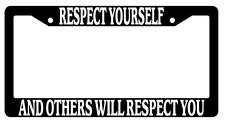 Black License Plate Frame Auto Accessory Respect-Yourself