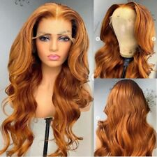 8A 180 Density Unprocessed Brazillian Ginger Bodywave 13x4 Lace Human Hair Wig
