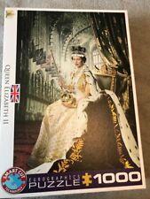 Eurographics 1000 Piece Jigsaw Puzzle,Queen Elizabeth II,excellent,not Xompleter