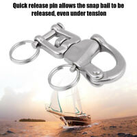 316 Stainless Steel Jaw Swivel Snap Shackle For Sailboat Halyard 2-3/4''inches