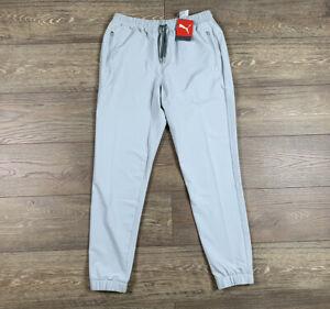 Puma EGW 9-Hole Jogger Golf Pants High Rise Gray Mens SZ Medium ( 599272 02 )