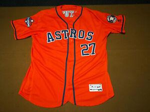 Altuve Houston Astros Majestic Jersey Orange Flex Base Size 56 2017 Champs #27