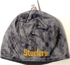 Pittsburgh Steelers Hat Grey/Black Shades Camouflage Fashion Knit Beanie