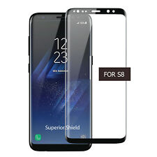 100% Genuine Tempered Glass LCD Screen Protector For Samsung Galaxy S8 - Black