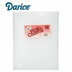 Darice Clear Plastic Canvas Count Sheet *10.5 x 13.5-Inch* 7 Craft  Pack of 12
