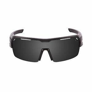 OCEAN RACE Polarized Sunglasses Cycling & Running, Shinny Black & Smoked Lens