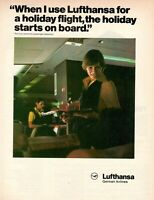 1979 Original Advertising' Lufthansa Germany Airlines Holiday Starts on Board