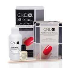 CND Offly Fast Removal & Care Kit Foil Wraps SolarOil for Shellac Gels BNIB